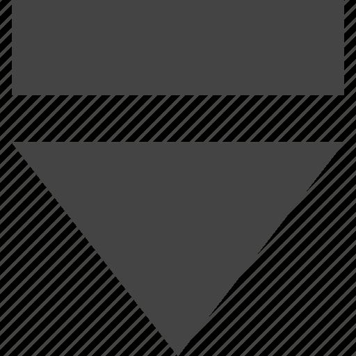 arrow, down, path icon