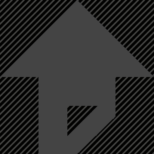 arrow, flow, path, top icon