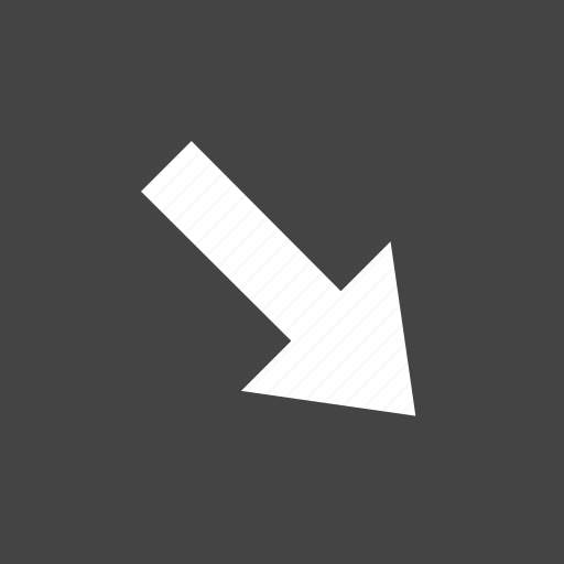 arrow, bottom, flow, path, right icon