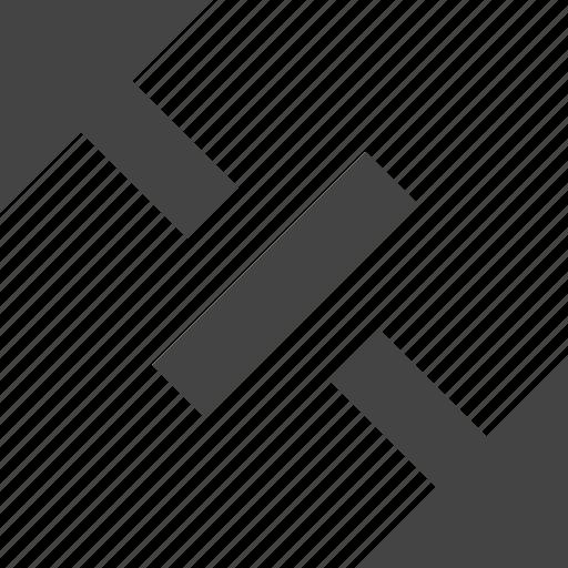 arrow, flow, increase, path, space icon
