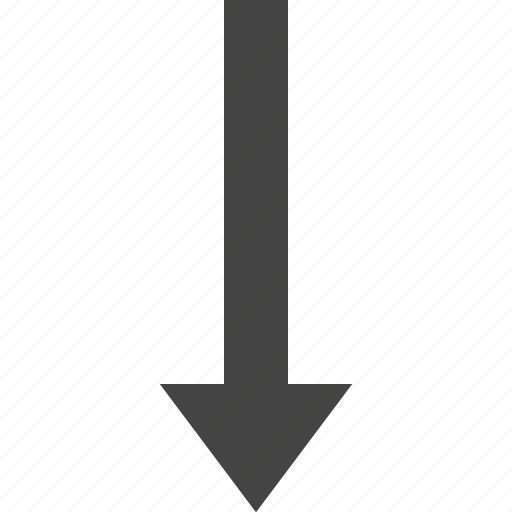arrow, bottom, flow, path, to icon