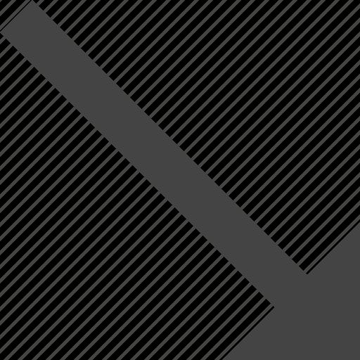arrow, bottom, flow, path, right, to icon