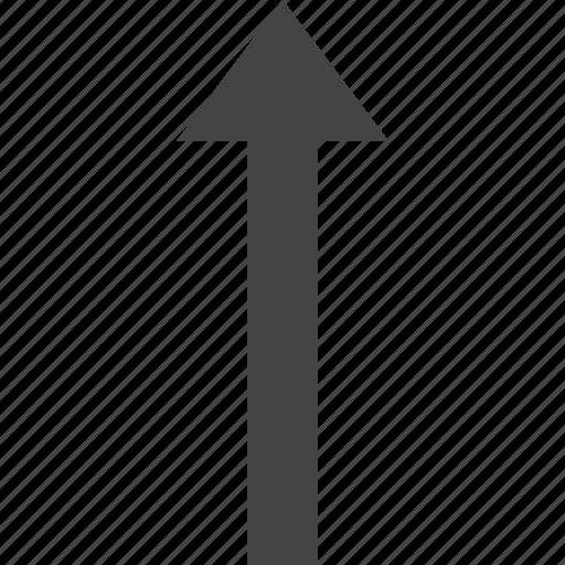 arrow, flow, path, to, top icon
