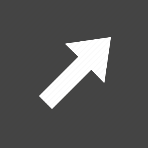 arrow, flow, path, right, top icon