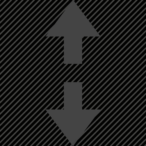 arrow, flow, path, two, way icon