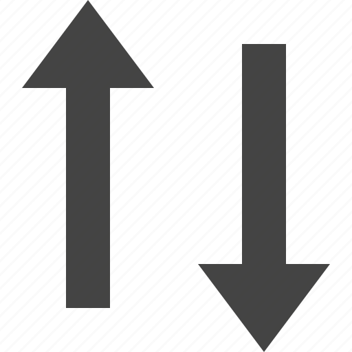 arrow, flow, parallel, path, two, vertical, way icon