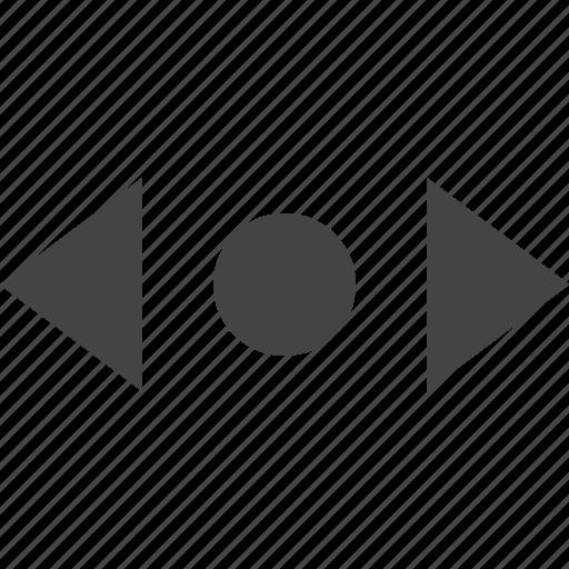 arrow, horizontal, move, path, point icon