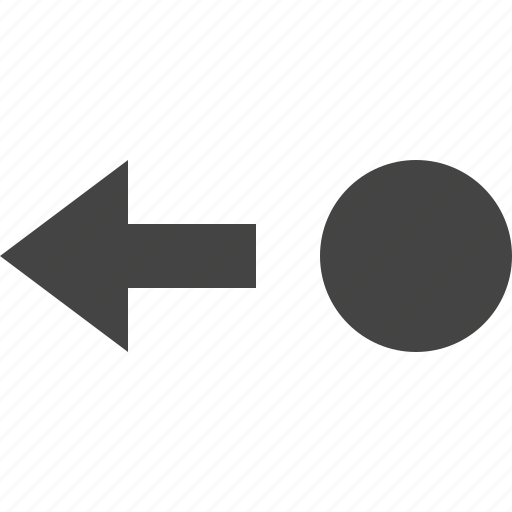 arrow, left, move, path, point icon
