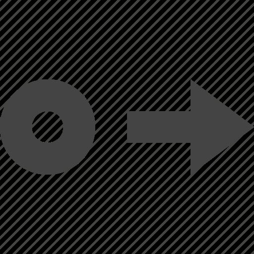 arrow, move, path, point, right icon