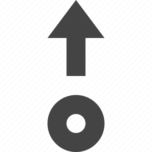 arrow, move, path, point, up icon