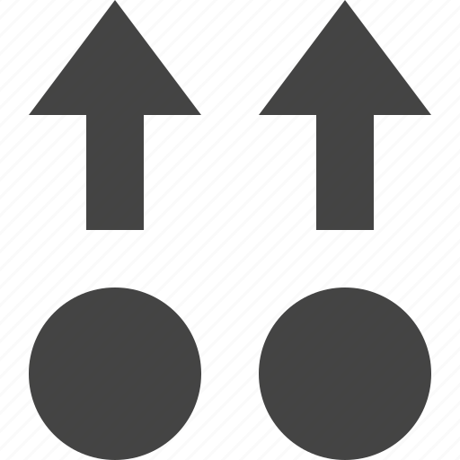 arrow, move, parallel, path, point, up icon