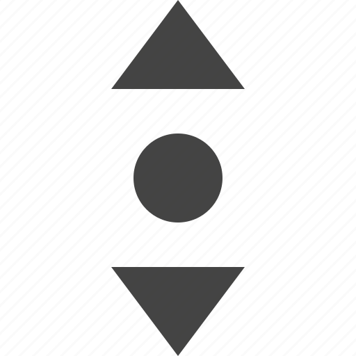 arrow, move, path, point, vertical icon
