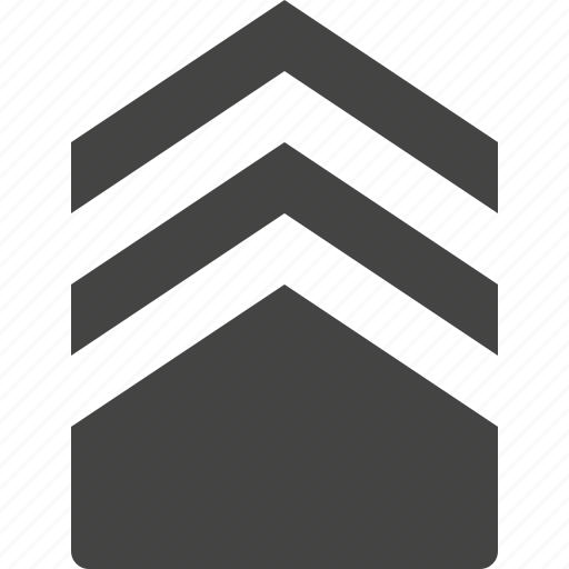 arrow, path, stack, three icon