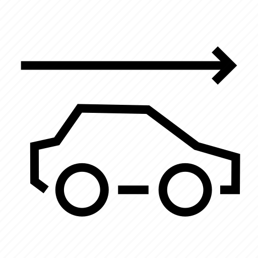 arrow, car, drive forward, driving, forward, front, go icon