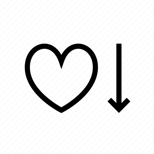 heart, heartbeat, low, pulse, pulsometer, rate icon