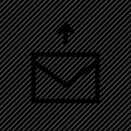 arrow, e, envelope, mail, mails, send, send mail icon
