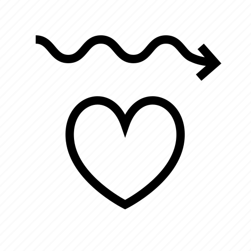 equal heart work, heart, heartbeat, pulse, rate, regular, smooth icon