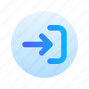 arrow, login, right, direction, circle, gradient