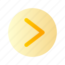 arrow, right, direction, circle, round, gradient