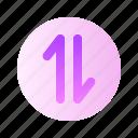 arrow, half, up, bottom, direction, gradient