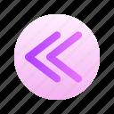 arrow, left, direction, circle, round, gradient