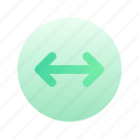 arrow, left, right, left right, direction, circle, gradient