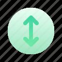 arrow, up, bottom, direction, circle, gradient