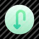 artboard, direction, arrow, circle, round, down, gradient
