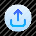 upload, direction, arrow, circle, round, line top, gradient