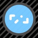 arrow, circle, diagonal, direction, navigation, ui icon