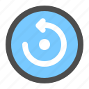 arrow, circle, direction, navigation, refresh, reload, ui icon