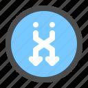 arrow, circle, direction, down, navigation, shuffle, ui