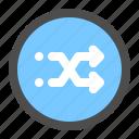 arrow, circle, direction, navigation, right, shuffle, ui