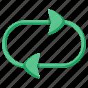 arrow, cycle, loop, refresh, repeat, rotate, sync