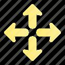 arrow, direction, expand, navigation, sign, ui, web