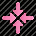 arrow, direction, minimize, navigation, sign, ui, web