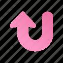 arrow, direction, navigation, sign, turn, up, web