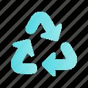 arrow, direction, navigation, recycle, sign, ui, web
