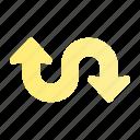 arrow, direction, navigation, sign, ui, web, zigzag