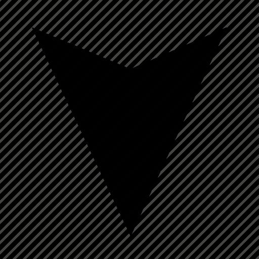 arrow, bottom, solid, ui, ux icon