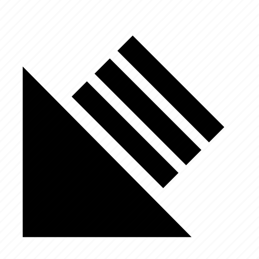 arrow, bottom left, solid, ui, ux icon