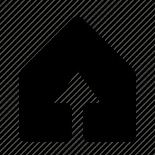 arrow, solid, top, ui, ux icon