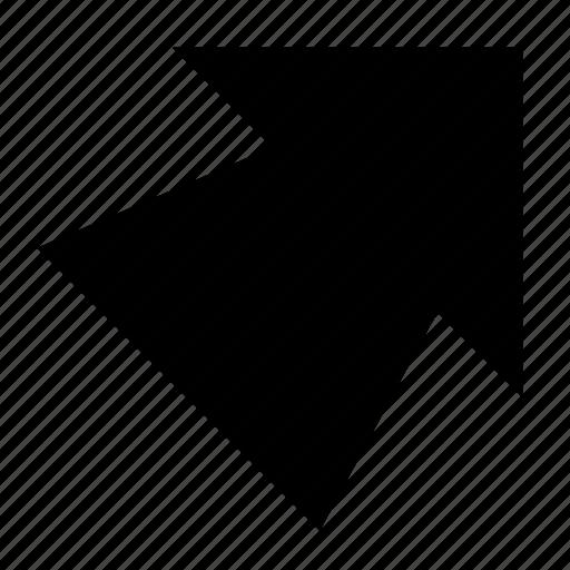 arrow, solid, top right, ui, ux icon
