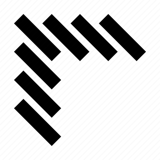 arrow, solid, top left, ui, ux icon