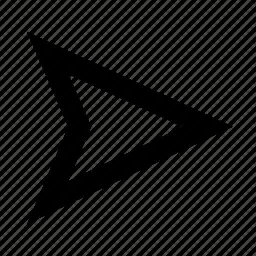 arrow, line, right, ui / ux, web icon