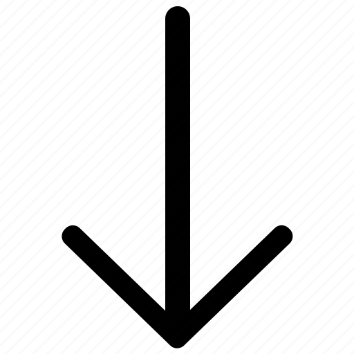 Arrow, down, bottom, download icon - Download on Iconfinder