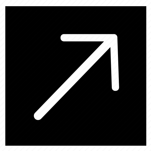 arrow, fill, rectangle, right, top icon