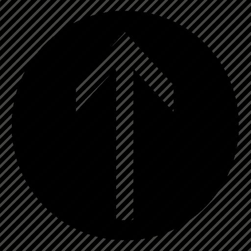arrow, circle, fill, up, upload icon
