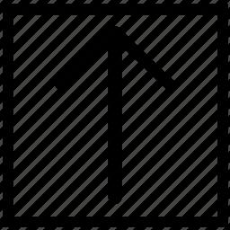 arrow, rectangle, up, upload icon