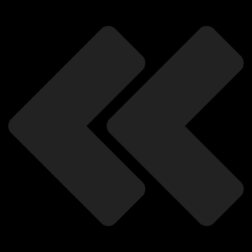 arrow, bt, double, left, move, navigation icon